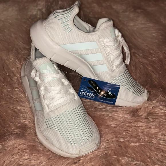 big sale 3047d 10b58 Women s Adidas swift run white aqua BRAND NEW. Listing Price   55. Your  Offer